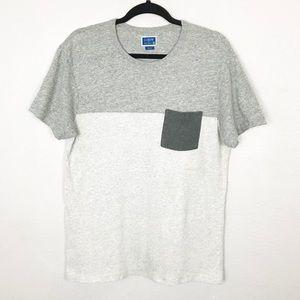 J.Crew Factory Gray Slim Pocket T Shirt Sz Medium